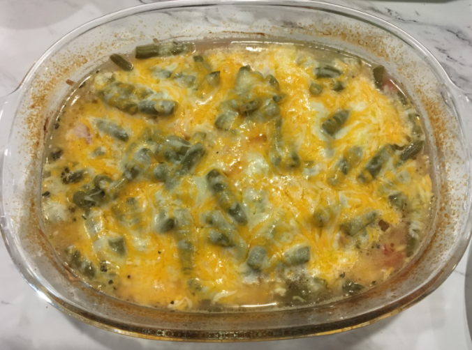 Cheesy Chicken n Green Bean Casserole