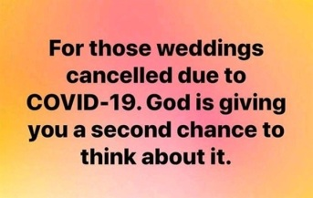 Covid weddings cancelled
