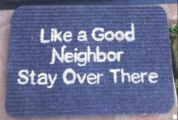 Covid welcome mat